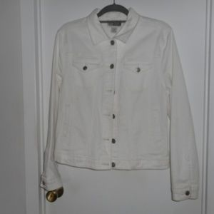 Route 66 White Jeans Jacket Large